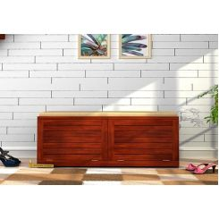 Lorenzo Shoe Cabinet (Honey Finish)