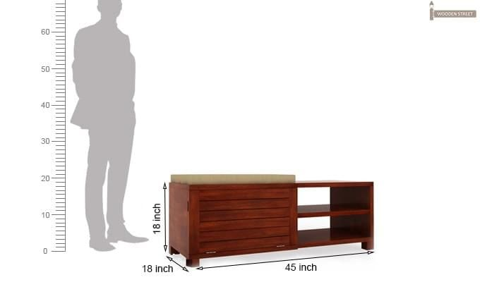 Marshalls Shoe Rack (Honey Finish)-6