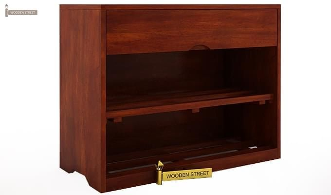 Merilyn Shoe Cabinet (Honey Finish)-2