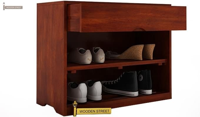 Merilyn Shoe Cabinet (Honey Finish)-4