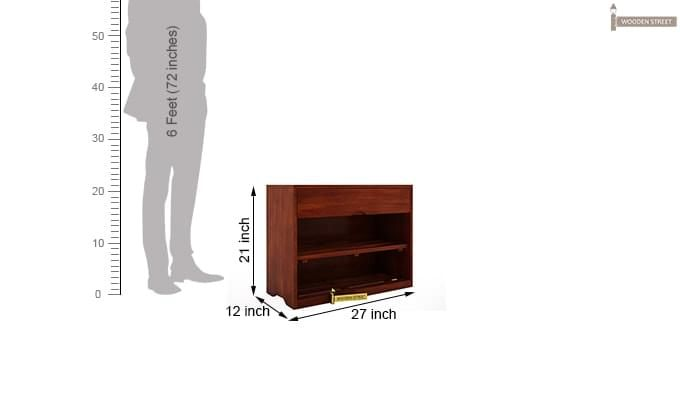 Merilyn Shoe Cabinet (Honey Finish)-5