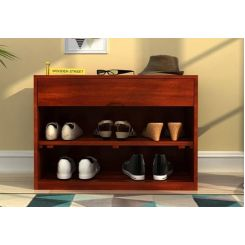 Merilyn Shoe Cabinet (Honey Finish)