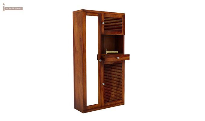 Montage Shoe Cabinet (Honey Finish)-2