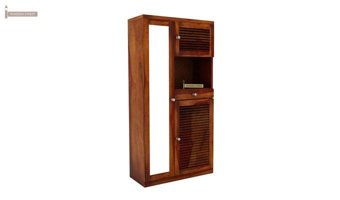 Montage Shoe Cabinet (Honey Finish)-1