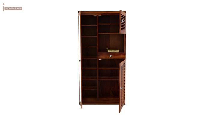Montage Shoe Cabinet (Honey Finish)-3