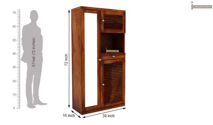 Montage Shoe Cabinet (Honey Finish)-5