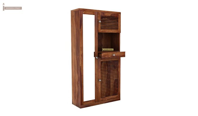 Montage Shoe Cabinet (Teak Finish)-2