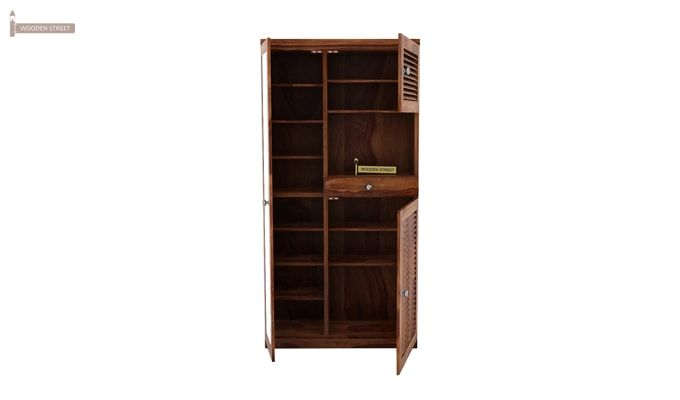 Montage Shoe Cabinet (Teak Finish)-3