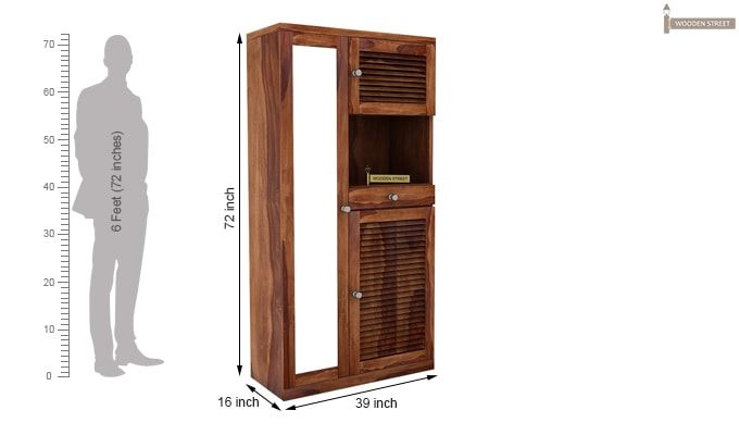 Montage Shoe Cabinet (Teak Finish)-5