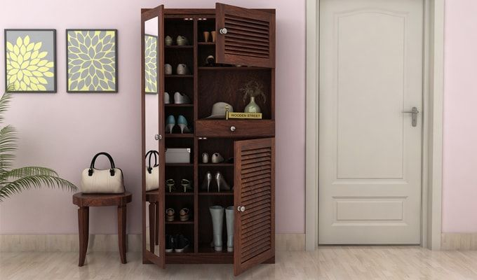 Montage Shoe Cabinet (Walnut Finish)-1