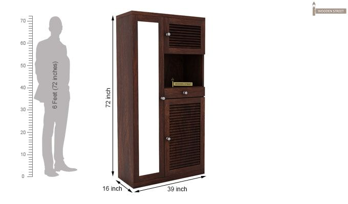 Montage Shoe Cabinet (Walnut Finish)-6
