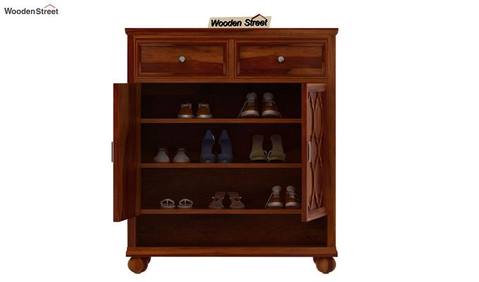 Montana Shoe Rack (Honey Finish)-3