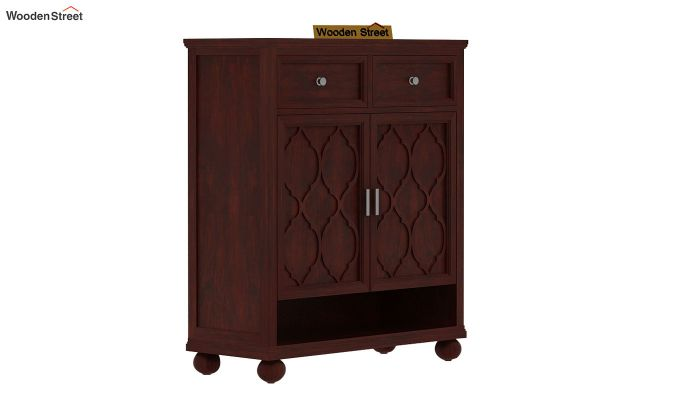 Montana Shoe Rack (Mahogany Finish)-2