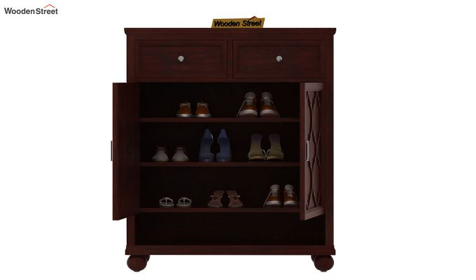 Montana Shoe Rack (Mahogany Finish)-4