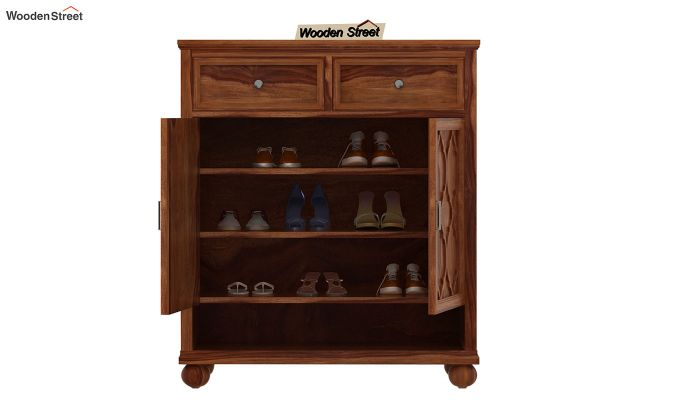 Montana Shoe Rack (Teak Finish)-3