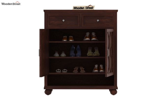 Montana Shoe Rack (Walnut Finish)-3