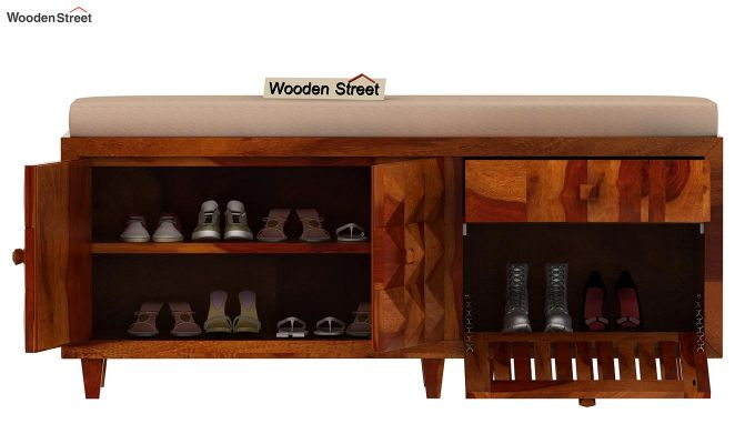 Morse Shoe Rack (Honey Finish)-3