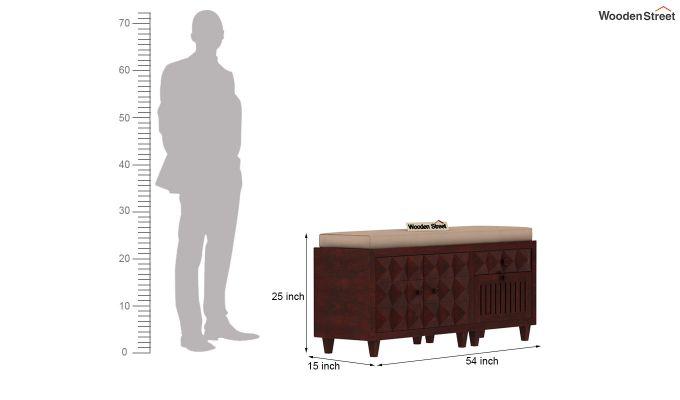 Morse Shoe Rack (Mahogany Finish)-4