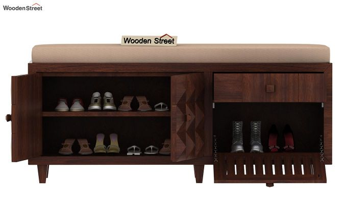 Morse Shoe Rack (Walnut Finish)-4