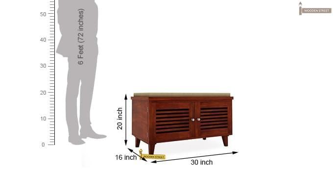Stanley Shoe Rack (Honey Finish)-6