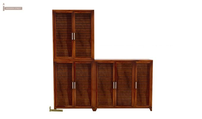 Niles Shoe Cabinet Set Of-3 (Honey Finish)-2