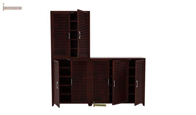 Niles Shoe Cabinet Set Of-3 (Mahogany Finish)-1