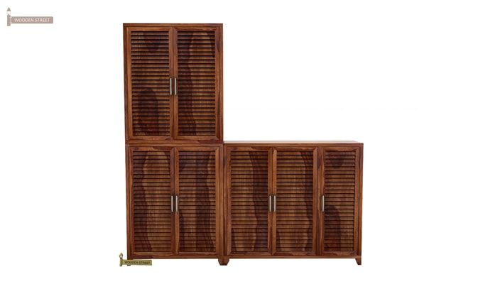 Niles Shoe Cabinet Set Of-3 (Teak Finish)-2