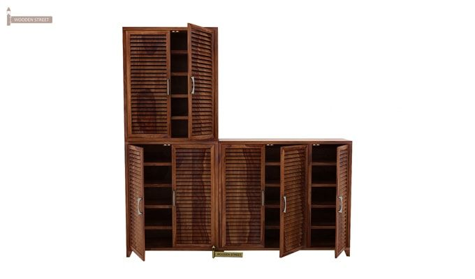 Niles Shoe Cabinet Set Of-3 (Teak Finish)-1
