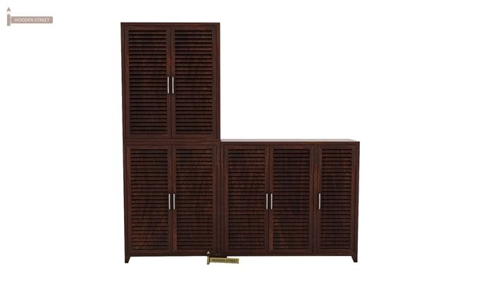 Niles Shoe Cabinet Set Of-3 (Walnut Finish)-2