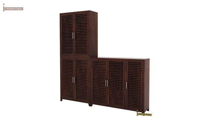 Niles Shoe Cabinet Set Of-3 (Walnut Finish)-4