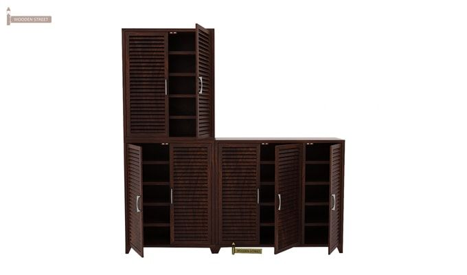 Niles Shoe Cabinet Set Of-3 (Walnut Finish)-1