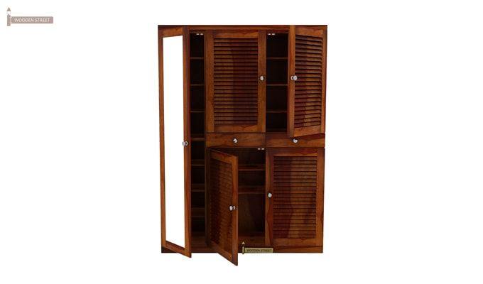 Paulin Shoe Cabinet (Honey Finish)-3