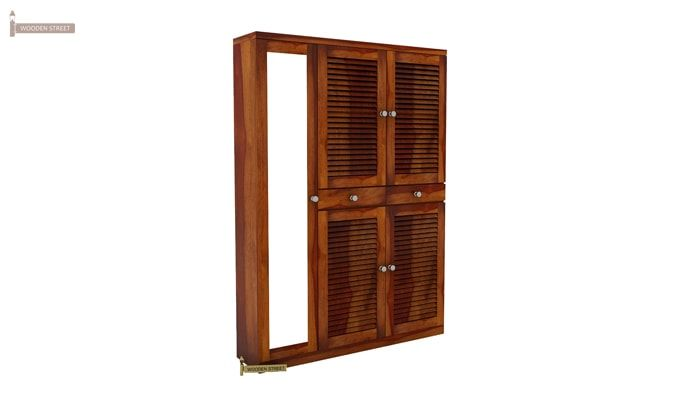 Paulin Shoe Cabinet (Honey Finish)-2