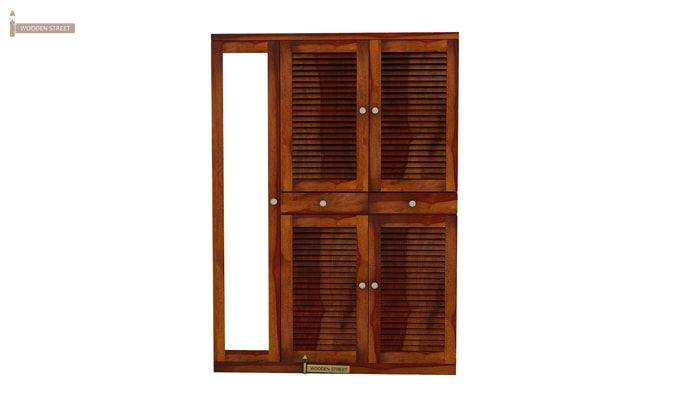 Paulin Shoe Cabinet (Honey Finish)-1
