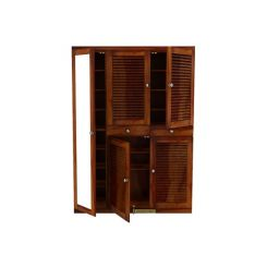 Paulin Shoe Cabinet (Honey Finish)