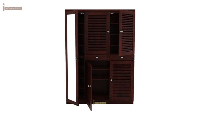 Paulin Shoe Cabinet (Mahogany Finish)-3