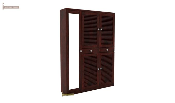 Paulin Shoe Cabinet (Mahogany Finish)-2