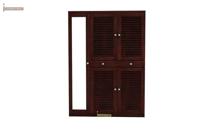 Paulin Shoe Cabinet (Mahogany Finish)-1