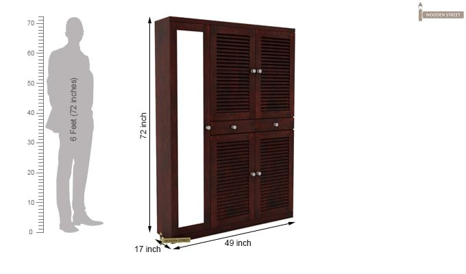 Paulin Shoe Cabinet (Mahogany Finish)-4