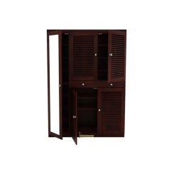 Paulin Shoe Cabinet (Mahogany Finish)