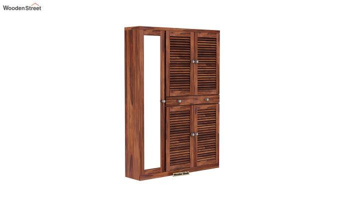 Paulin Shoe Cabinet (Honey Finish)-2
