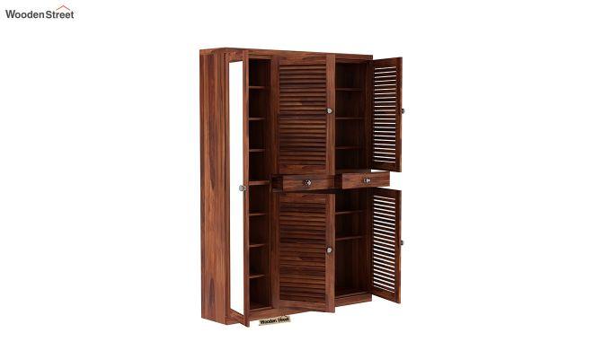 Paulin Shoe Cabinet (Honey Finish)-4
