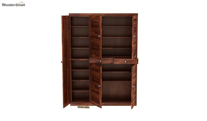 Paulin Shoe Cabinet (Honey Finish)-5