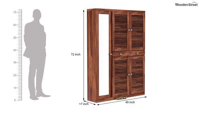 Paulin Shoe Cabinet (Honey Finish)-6