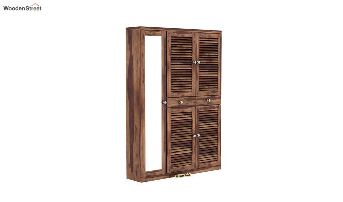 Paulin Shoe Cabinet (Teak Finish)-2