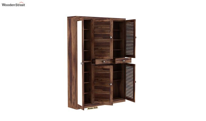 Paulin Shoe Cabinet (Teak Finish)-4
