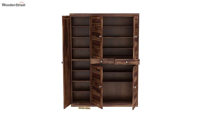 Paulin Shoe Cabinet (Teak Finish)-5