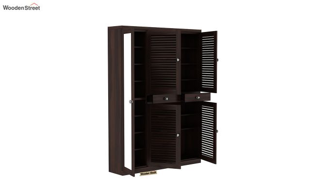 Paulin Shoe Cabinet (Walnut Finish)-4