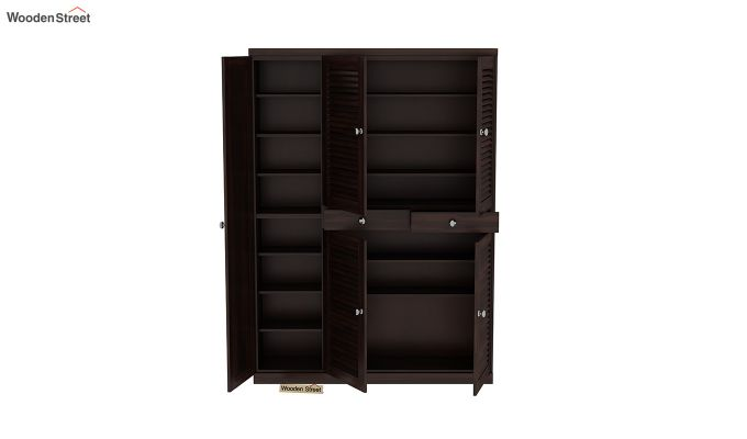 Paulin Shoe Cabinet (Walnut Finish)-5