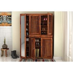 Paulin Shoe Cabinet (Teak Finish)
